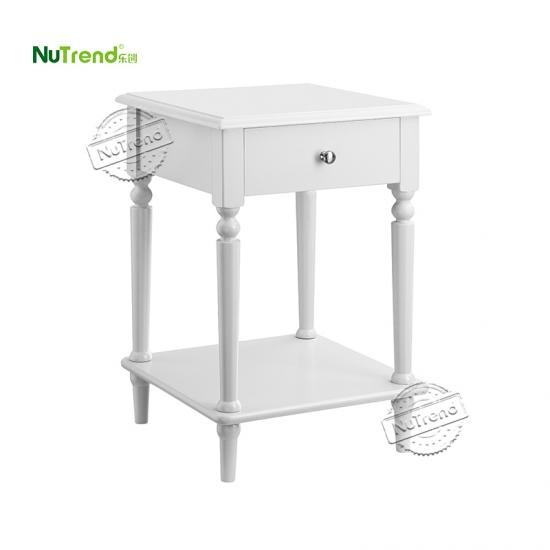 Wooden White Sofa End Table Furniture Factory China