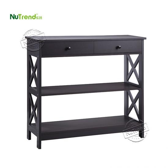 Black Modern Wood console Table with drawer furniture factory china