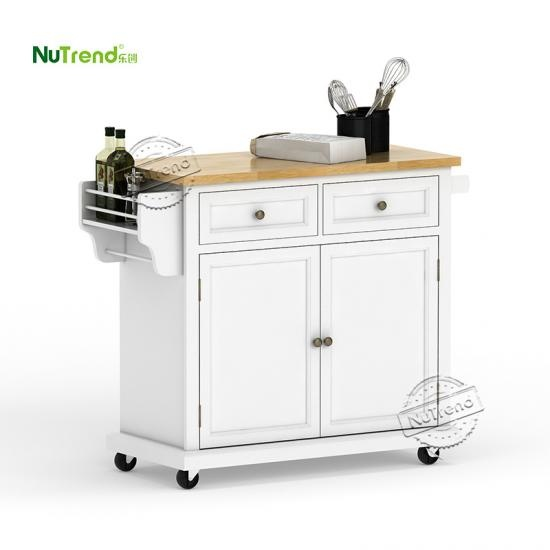 wholesale Wood Micorwave Kitchen Island Cart Furniture Factory China