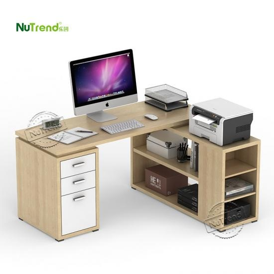 wholesale Mdf Wood Pc Office Desk Table With Storage Supplier China
