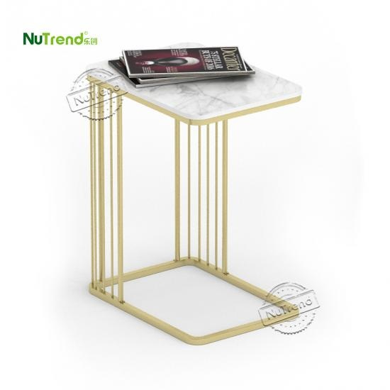 Wholesale Gold  Metal Sofa C end Table Furniture Supplier