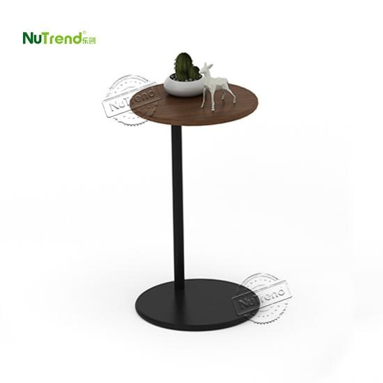 wholesaleSmll Dark Wood Tall Skinny Farmhouse Style Round Top End Side Tablefurniture factory