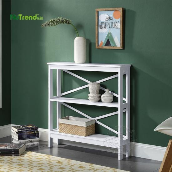 white 2 tier tall skinny narrow entry sofa hall table  factory Supplier