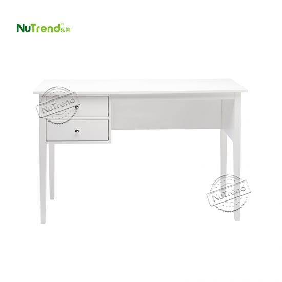 wholesalemodern white computer writing desk with 2 storage drawers Supplier China